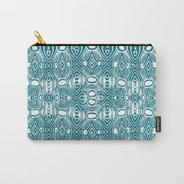 Vintage Polynesian Stamp Print Carry-All Pouch
