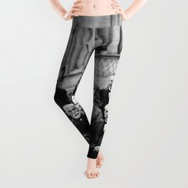 World-Renowned Physicists of 1927 at Solvay Conference Leggings