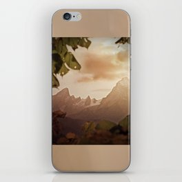 Framed by foliage iPhone Skin