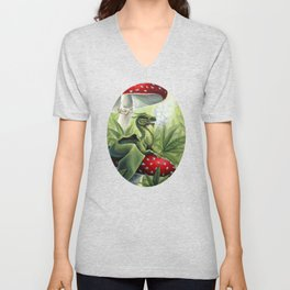 Smoking Dragon in Cannabis Leaves Unisex V-Neck