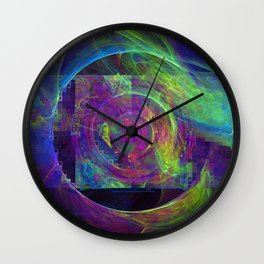 Microfractology Flame Experience Wall Clock