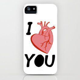 I Love You (white) iPhone Case