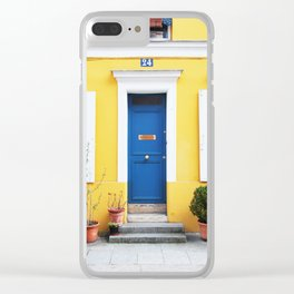 58. Yellow House, Paris Clear iPhone Case