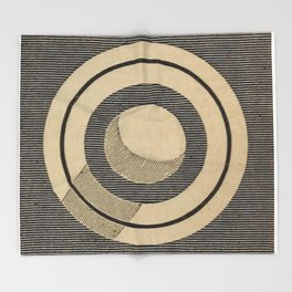 Vintage Saturn From Above Throw Blanket