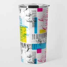 A piano pattern Travel Mug