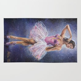 Repainted Ballerina in Spotlight Rug