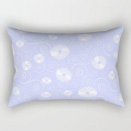 White Spirals Rectangular Pillow
