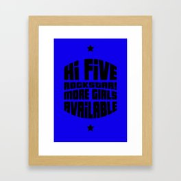 HI FIVE ROCKSTAR (GTA V) Framed Art Print