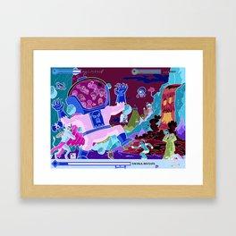 Princess Planet Boss Battle 10 - Skullossus Framed Art Print