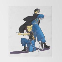 Fullmetal Alchemist - Roy & Riza Throw Blanket