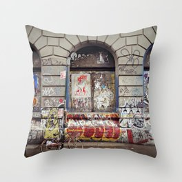 on the Bowery... Throw Pillow