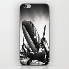 C-47D Skytrain Black and White iPhone Skin