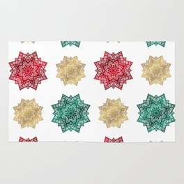 Holiday star pattern Rug