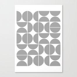 Mid Century Modern Geometric 04 Grey Canvas Print