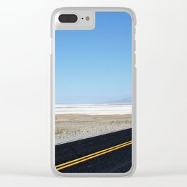 Lonely Road in Death Valley, CA Clear iPhone Case