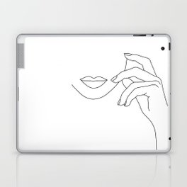 Hands line drawing illustration - Greta Laptop & iPad Skin