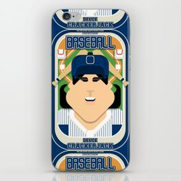 Baseball Blue Pinstripes - Deuce Crackerjack - June version iPhone Skin
