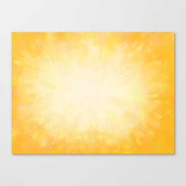 Golden Sunburst Canvas Print