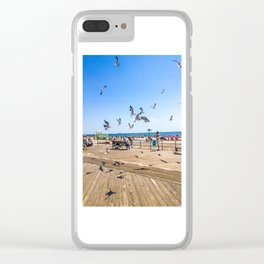 Seagulls of Coney Island Clear iPhone Case