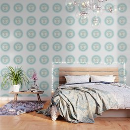 Turquoise Green Turtle And Mandala Wallpaper