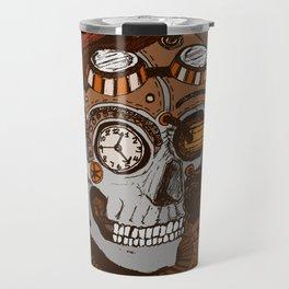 Steampunk Skull Travel Mug