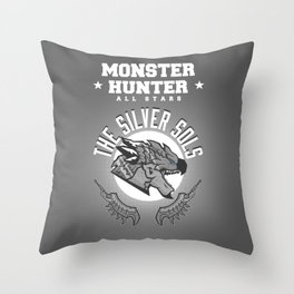 Monster Hunter All Stars - The Silver Sols Throw Pillow
