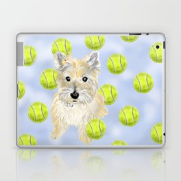 Miss Caroline the Cairn Terrier is Obsessed About Fetching Tennis Balls Laptop & iPad Skin