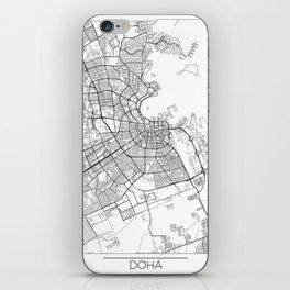 Doha Map White iPhone Skin