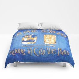 Vietnamese Coffee Ad Comforters
