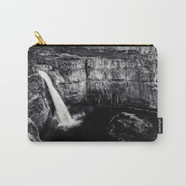 Hidden Waterfall Black and White Carry-All Pouch