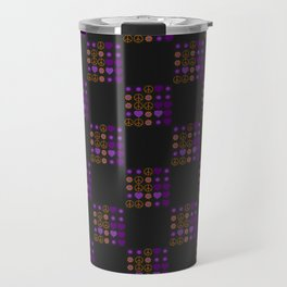 Halloween Patchwork Weave Travel Mug