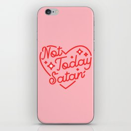 not today satan II iPhone Skin