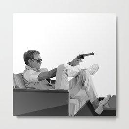 Steve McQueen Vector Metal Print