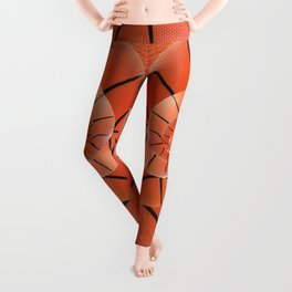 Droste Basketball Spiral  Leggings