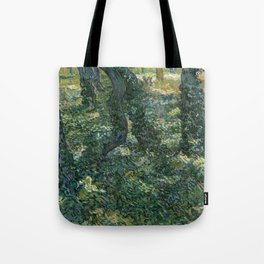 """Vincent Van Gogh """"Trees and undergrowth"""" Tote Bag"""