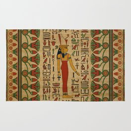 Egyptian Mut Ornament on papyrus Rug