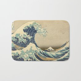 The Great Wave - Katsushika Hokusai Bath Mat