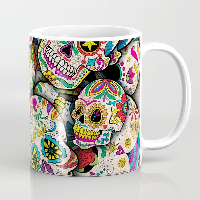 sugar skull collage coffee mug by epicnerd society6