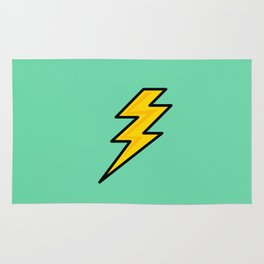 Lightning Bolt Mint Rug
