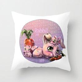 Chines Rabbit horoscope Throw Pillow