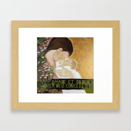 A Mothers love (Even God finds it hard to love and be wise (at the same time)) Framed Art Print