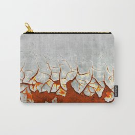 Rust and Grey Carry-All Pouch