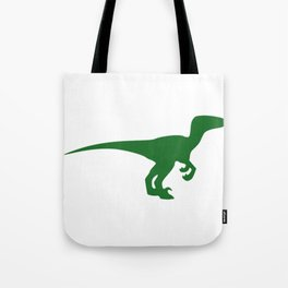 Velociraptor Dinosaur Silhouette Tote Bag