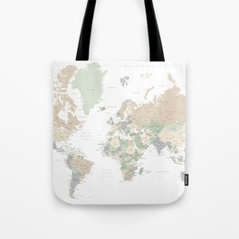 """World map with cities, """"Anouk"""" Tote Bag"""