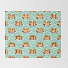 Pancakes & Dots Pattern Throw Blanket