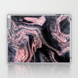 Stylish rose gold abstract marbleized design Laptop & iPad Skin