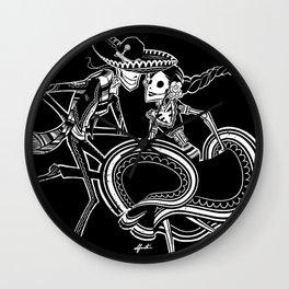 ZAPATEADO ON BLACK Wall Clock