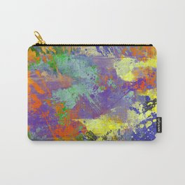 Signs Of Life - Vibrant, random paint splatter multi coloured abstract Carry-All Pouch