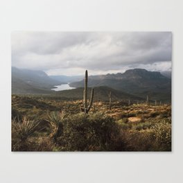 Desert River Sunset Canvas Print