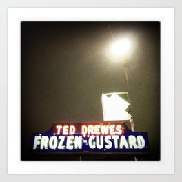 Ted Drewes, St. Louis Art Print